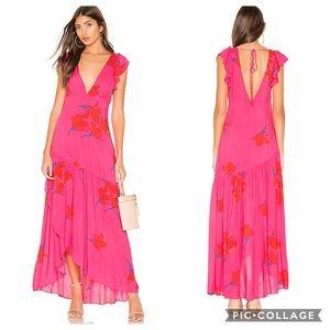 Free People Revolve She's A Waterfall Maxi Dress 0